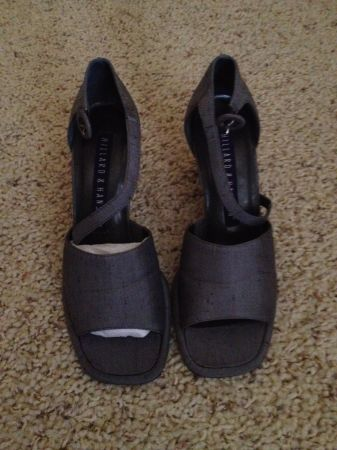 Shoes - Brand New In Box - Womens GraySilver Heel Shoes - Size 5 12 (Chandler Heights McQueen)