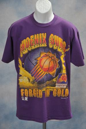VINTAGE PHOENIX SUNS TEE SHIRT T-SHIRT MAGIC JOHNSON TS - LARGE - $25 (PHOENIX)