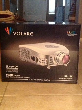 Brand New Volare LED Projector wrolkolsen surround sound speaker set - $2000 (East Mesa)