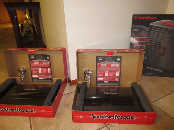 Rockford Fosgate Punch Amps - $800 (Chandler)