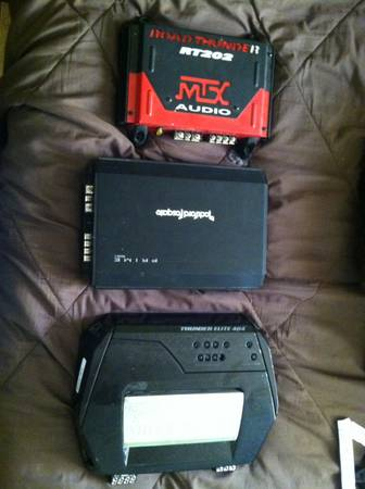 Amplifier MTX Elite 404 and Punch r-250 - $90 (Laveen az)
