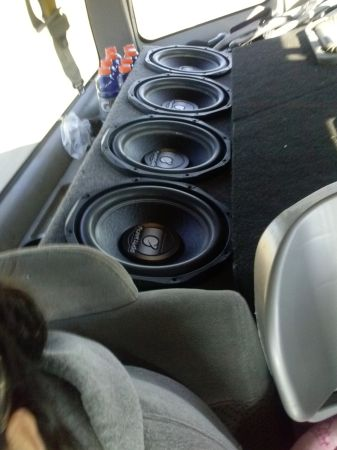 4 12 inch PLANET AUDIO SUBS AND BOX W4000.1 MONO BLOCK AMP - $500 (west phx)