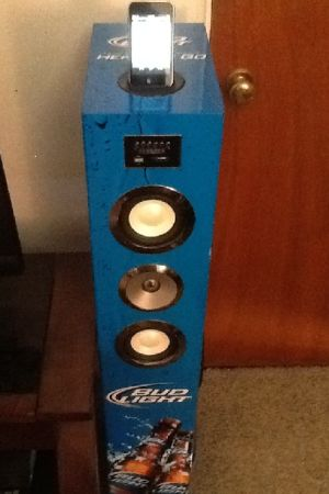 BUD LIGHT IPOD DOCK MP3 USB 10 SUBS SPEAKER TOWER - $350 (40TH ST INDIAN SCHOOL)