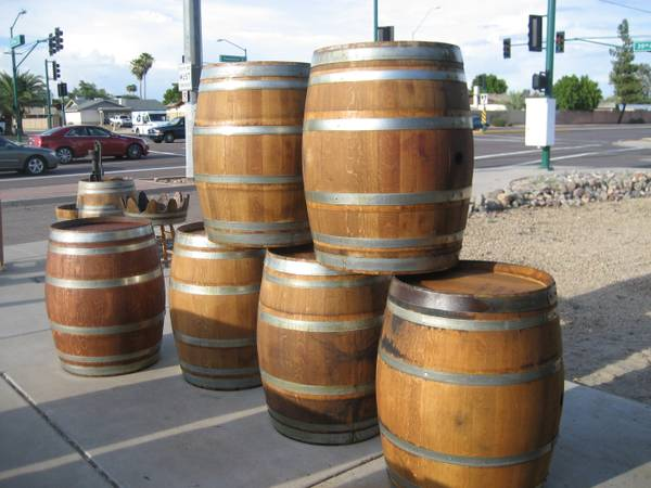 wine barrel, whiskey barrel, half barrel,fountain, bar, patio set, - $95 (39th Ave Thunderbird Rd.)