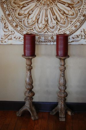 RAZMATAZ CANDLE STICKS WCANDLES HUGE, BEAUTIFUL - $20 (Glendale)