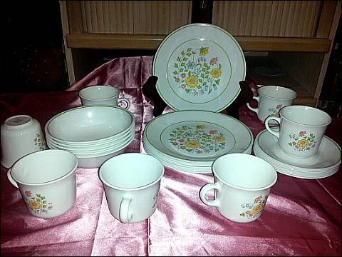 Vintage Corelle by Corning Dishes Meadow Pattern - $8 (mesaphx)
