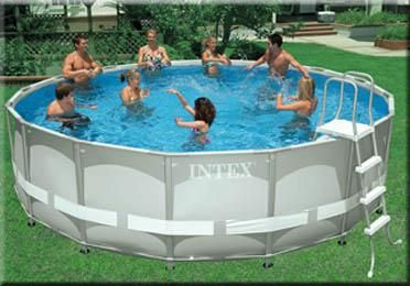 SWIMMING POOL - INTEX ROUND ULTRA FRAME 18 FT X 52 IN - SALTWATER - $600 (SURPRISE)