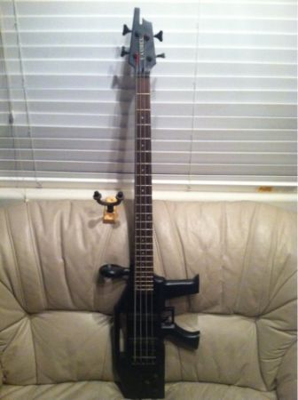 Machine gun bass guitar - $200 (Surprise)