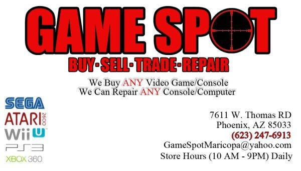 WE REPAIR BROKEN GAME CONSOLES AND COMPUTERS 623-247-6913 (west phoenix)
