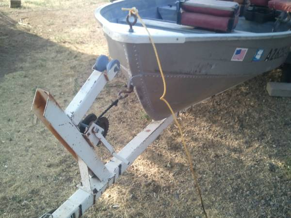 Trade 14 MirroCraft for two person fishing pontoon (chino valley)
