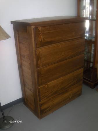NEW 5 drawer chest of drawers, solid wood - $599 (Wades Furniture)