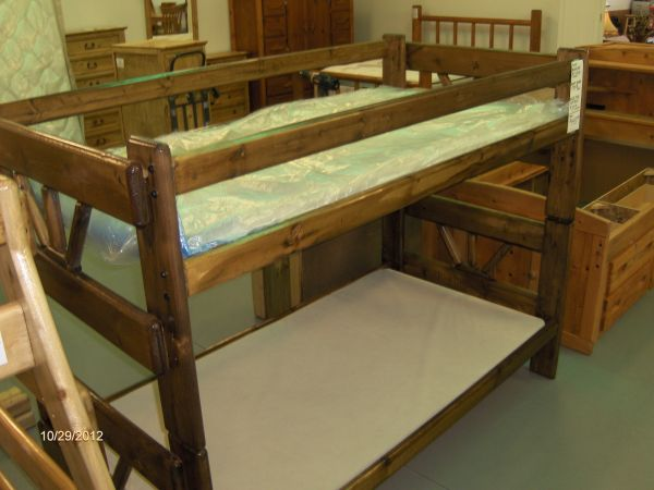 NEW solid wood bunkbeds - $225 (Wades Furniture)