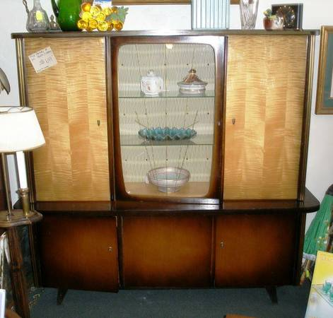 Vintage 1950 s Mid Century 2 piece China Cabinet or Library - $649 (Deja Vu Antiques)