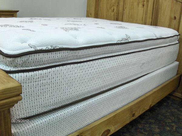NEW 14 thick queen pillowtop mattress with foundation - $499 (Wades Furniture)
