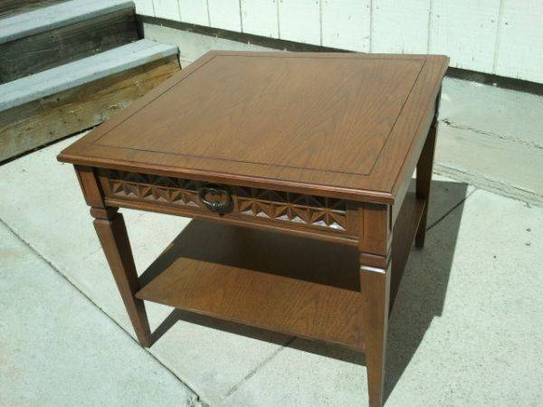 square brown side or end table - $25 (downtown prescott)
