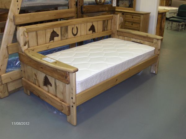 NEW western daybed, solid wood - $225 (Wades Furniture)