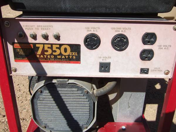 7550 Generac Generator Like New - $400 (Chino Valley)