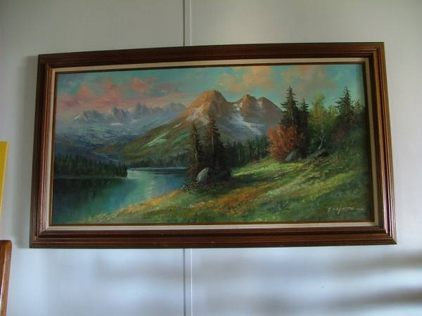 OIL ON CANVAS BY CAROLL FORSETH - 1 - $4300 (Kingman, Arizona)