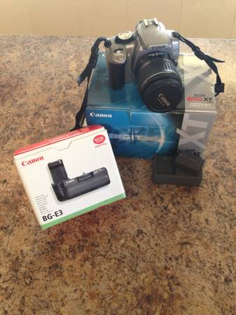 Canon rebel xt digital camera and accessories - $150 (Prescott tri city)