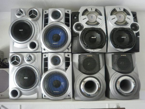 SPEAKERS - 4 PAIR EACH FOR STERO AND SURROUND SOUND USE - $30 (P.V.)