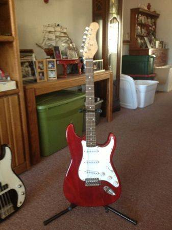 G Burton Electric Guitar Red 6 String - $100 (Prescott near PHS)