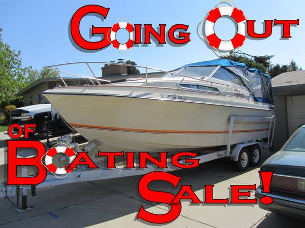 1980 Bayliner Saratoga 2550 Trailer 25 - Priced Reduce - $4000 (Bountiful, UT)