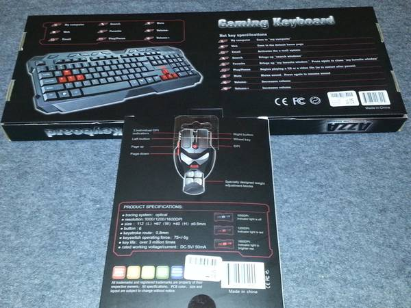 AZZA Gaming Keyboard and Mouse BRAND NEW - $25 (Draper)