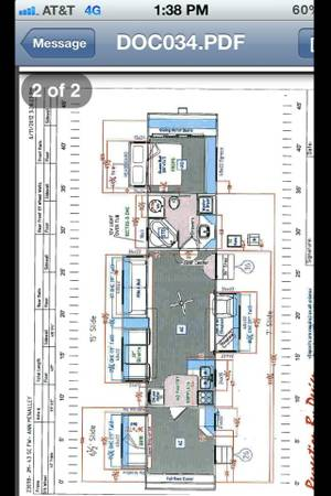 43 ft recreation by design fifth wheel two bedroom fully loaded - $44000 (Saltlake city)
