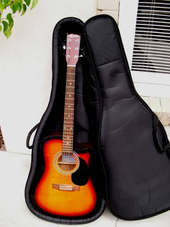 Spencer Electric-Acoustic Guitar w Stage One Case - $229 (656 W 300 Provo)