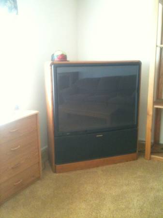 55 Mitsubishi TV, Entertainment Center, and Table (Reno, NV)