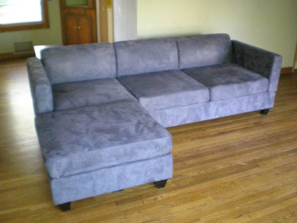 Modern Ultra-Suede Sectional living room furniture - $700 (Carson City)