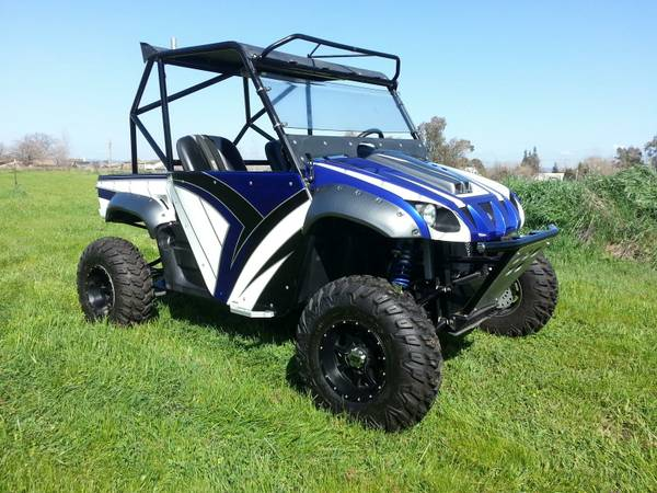 NICEST on the list -- yamaha rhino --- long travel -- show toy-- trade - $10500 (trade or offer)