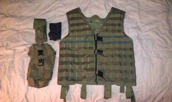 Opsgear MOLLE Vest w attachments - $100 (Reno)