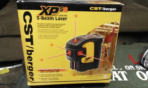 CST XP5S self leveling 5 beam laser - $140 (Carson City )