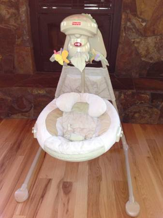 Fisher Price Natures Touch 2-Way Cradle Swing - $35 (Truckee)