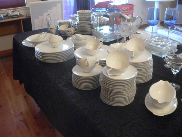 Silver Snow by Sango China Set - $350 (Reno)