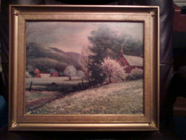 Painting Robert Wood Early Spring Vintage PaintingGreat Price - $25 (Sparks, Nevada)