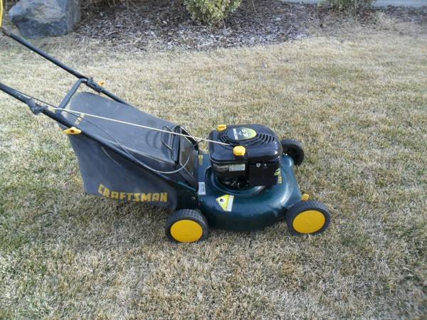Sears Craftsman Lawnmower lawn mower with BAG - $100 (South Reno)