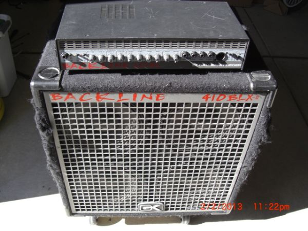 Gallien Krueger backline head and cab - $350 (Los Altos Pkwy)