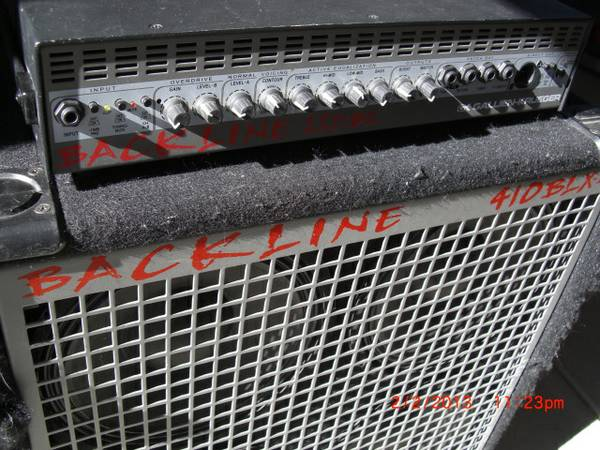 Gallien Krueger backline head and cab - $300 (Los Altos Pkwy)