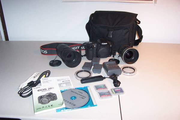 Canon 20D Digital Camera Kit - $350 (Reno - Red Rock area)