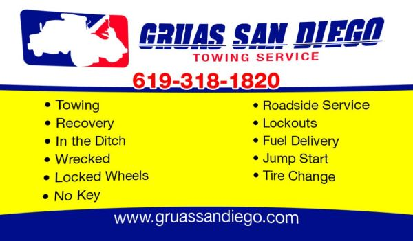 $30ROADSIDE (((GRUAS SAN DIEGO))) 20 MINUTES AWAY FROM YOU (619 3181820)