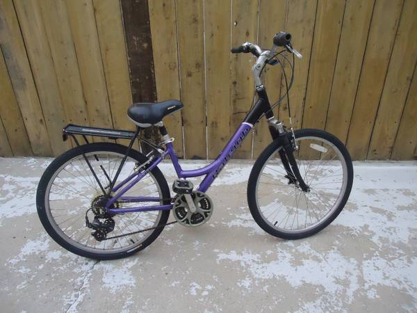 Womens 16 Raleigh Cruiser w bike rack - $130 (North Park)