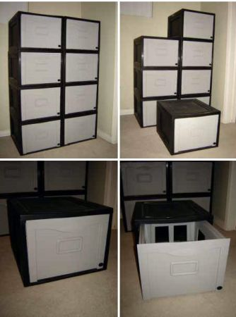 Stackable Plastic Hanging File Cabinets or storage cases - $25 (North Park)