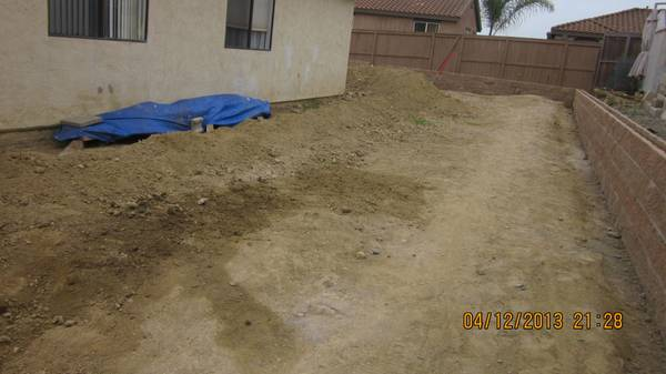 Free Fill Dirt, approximately 10-12 cubic yards (Oceanside)