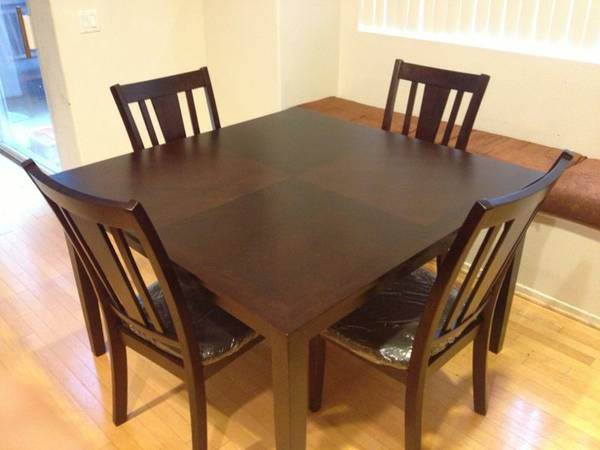 Brand New Solid Wood Dining Table set Having Leather Seats - $225 (Mira Mesa)
