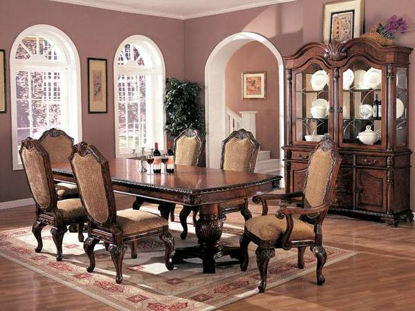 Virgo Collection Formal Dining Table Set Buffet - $2200 (La Mesa)