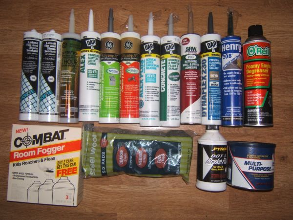 Electrical, Track Lighting, Hardware, Caulk, Sealant, Wire, Nails - $2 (Clairemont)