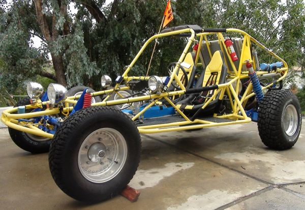 Mid-travel Turbo Sand Rail, Dune Buggy with Optional Spare Engine