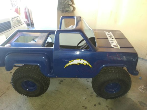 Monster Truck Go Kart, San Diego Chargers - $2500 (point loma)